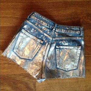 Topshop MOM high waisted denim jean shorts